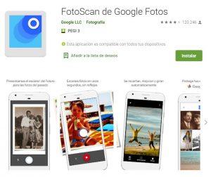 aplicaciones para escanear fotos con el móvil